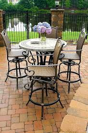 Bar Height Patio Set With Swivel Chairs Bar Height Patio Set With Swivel Chairs Outdoor Furniture And