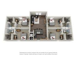 three bedroom townhouse floor plans floor plans the lodges at 777 near the lsu campus