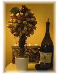 wine cork topiary thedotcomdecorator
