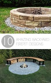 Backyard Firepits 10 Amazing Backyard Diy Firepit Designs Bless My Weeds
