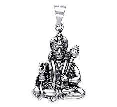 necklace pendants online images Lord hanuman sterling silver pendant silver pendants online jpg