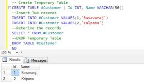 t sql insert into new table temporary tables are created in tempdb sqlhints com