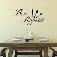 popular removable wall sticker sayings buy cheap removable wall cheap bon appetit wall decals cutlery removable vinyl diy home decor wall sticker french sayings