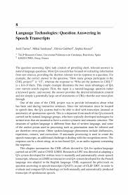language technologies question answering in speech transcripts