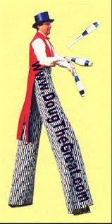 clown stilts stiltwalker