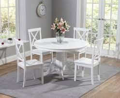 epsom white 120cm round pedestal dining set the great furniture