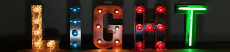 illuminated letters fairground letters circus letters