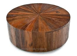 Furniture Rustic Modern by Round Wood Coffee Table With Drawer Modern Rustic Design