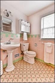 pastel pink green blue gardenia flower vintage bathroom wallpaper
