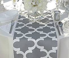 table runner grey and white unlined table runner 12 x 72 grocery