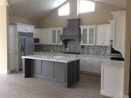 shaker kitchen island shaker white kitchen fluted grey island beach style kitchen within