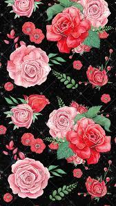 pattern roses pattern texture decoupage wallpaper