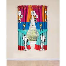 window drapes peanuts window drapes set of 2 walmart com