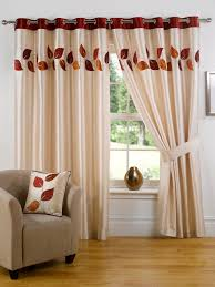 Bedroom Curtains Interior Beautiful Glass Window Decoration With Beige Curtain And