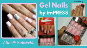 gel nails by impress fake nails youtube