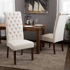 Amazoncom Best Selling Natural Tall Tufted Dining Chair Pack - Dining chairs in living room