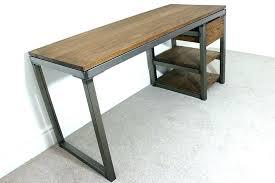 Stainless Steel Office Desk Metal Industrial Desk Steel Stripped Metal Industrial Architect