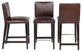 Kitchen Rowan Leather Bar Height Stool With Regard To Attractive - Elegant dining table with bar stools residence