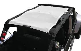 white jeep 4 door alien sunshade jeep wrangler jku4fb shade provides uv protection