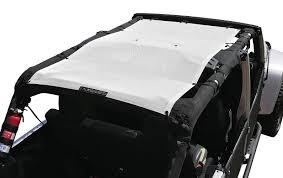 white jeep 4 door alien sunshade jeep wrangler jku4fb shade provides uv protection