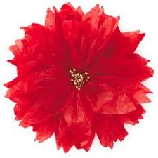 flower bow poinsettia tissue paper flower bow 5 bows ribbons hallmark