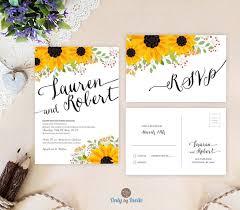 sunflower wedding invitations sunflower wedding invitations lilbibby