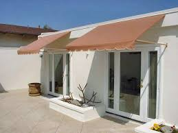 Cloth Window Awnings Twin Canvas Window Awnings With Mirror Windows And Stained White