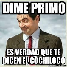 Memes De Cochiloco - meme mr bean dime primo es verdad que te dicen el cochiloco
