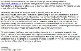 youtube threatens legal action against video downloader update