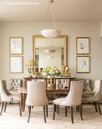 Decorate A Dining Room 59020 Round Mirror In Dining Room Dining Room Transitional With