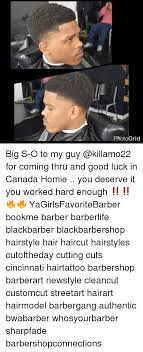 caption for big haircut photo grid big s o to my guy for coming thru and good luck in