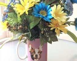 Dog Flower Arrangement Daisy Centerpiece Etsy