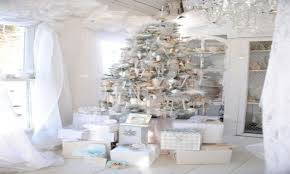 white and silver christmas trees christmas lights decoration