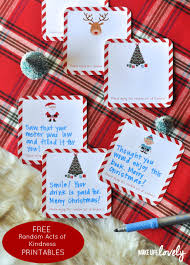free printable random act of kindness cards make life lovely