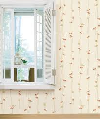 wavy flowers pattern self adhesive vinyl wallpapers wallstickery com