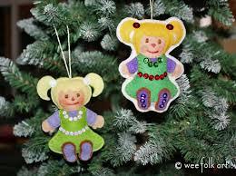 santa s workshop rag doll ornament wee folk