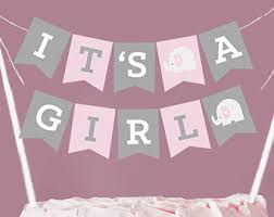 baby shower banner ideas pink elephant baby shower decorations for girl or 1st