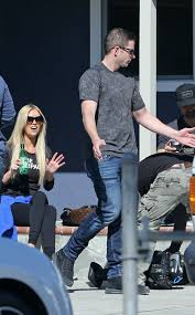 tarek and christina el moussa are in good spirits while filming