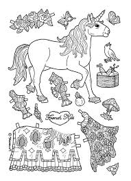 paper dolls coloring pages 17 remodel coloring kids