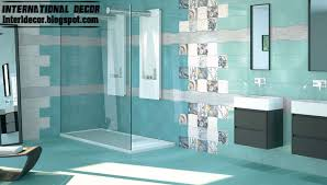 bathroom tiles design contemporary turquoise bathroom tile designs ideas