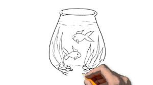 aquarium animals pencil to draw step by step youtube