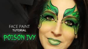 halloween face decals poison ivy makeup tutorial youtube
