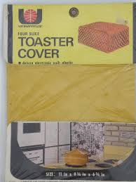 Toaster Covers 70s Vintage Toaster Covers Mint In Package Quilted Plastic