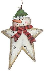 tin snowman star sign metal christmas ornament craft by carolalden