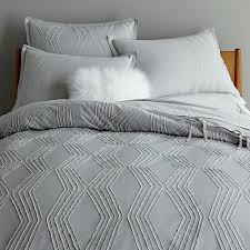 roar rabbit zigzag texture duvet cover shams frost gray