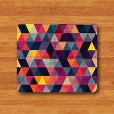 mousepad designen triangle geometric abstract colorful fabric mouse pad vintage