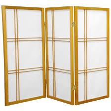 handmade wood and rice paper double cross 3 foot shoji screen