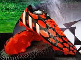 Sepatu Bola Grade Ori detail sepatu bola merek adidas predator instinct hitam orange