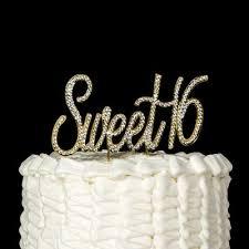 sweet 16 cake topper sweet 16 cake topper gold rhinestone birthday party