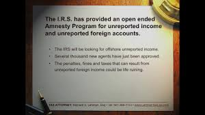 update on the irs amnesty offshore voluntary disclosure program